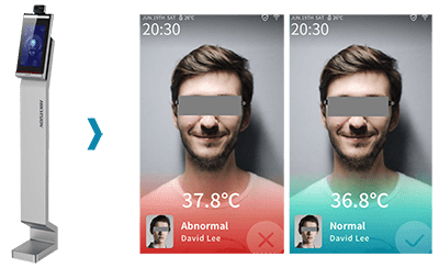 face recognition thermal access control