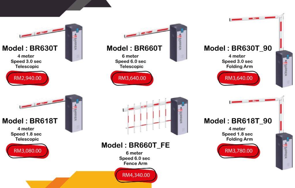 barrier promotion price list